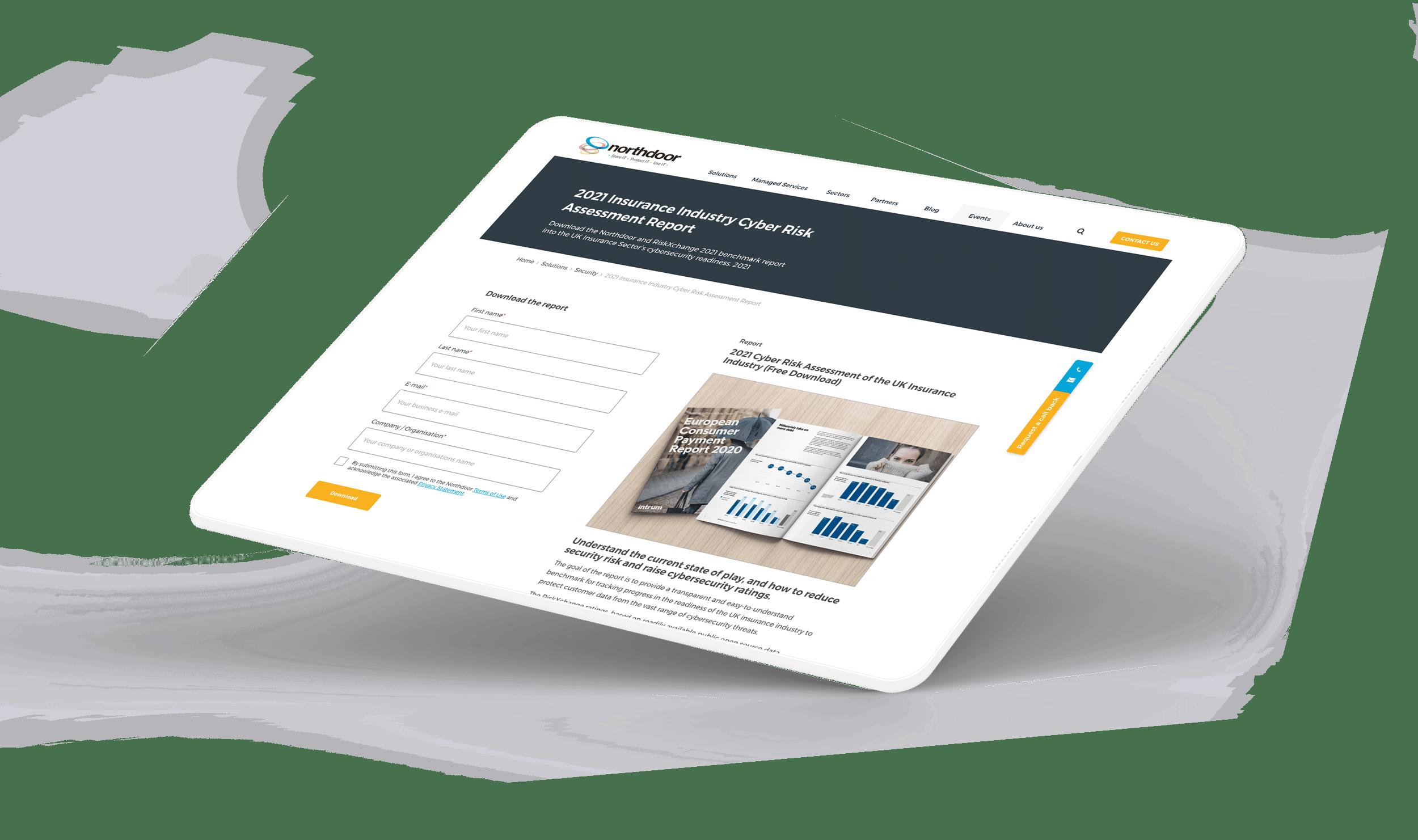Landing page for inbound marketing
